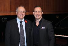 (Photo: Denis Bernier) Le fondateur du programme de doctorat en éducation de l'UQAM, Serge P. Séguin et son fils, le chef d'orchestre Yannick Nézet-Séguin.