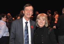 (Photo: Denis Bernier) Robert Proulx, recteur de l'UQAM et Louise Poissant, doyenne de la Faculté des arts (UQAM) et membre du comité d'honneur du concert-bénéfice.